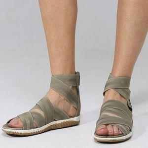 New Sorel Out N About Plus Strap Sandal Sage